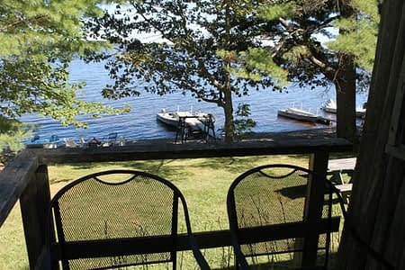 View of the lake from Cabin 6